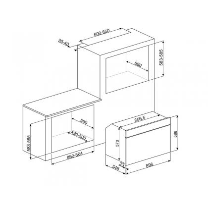 Cuptor incorporabil electric Smeg Classic SFP9395X, 90 cm, inox, pirolitic, display TFT, 15 programe, sertar integrat