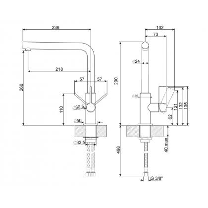 Baterie de bucatarie Smeg MF22CR2, crom