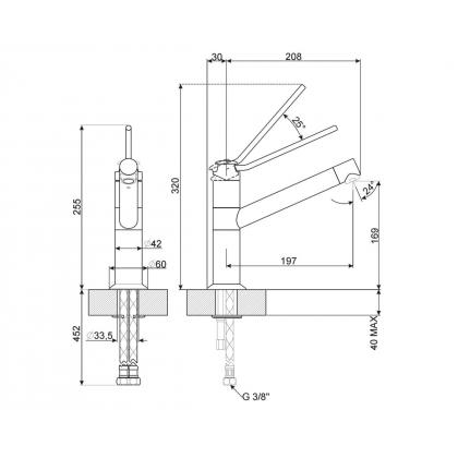 Baterie de bucatarie Smeg MF4CR, crom