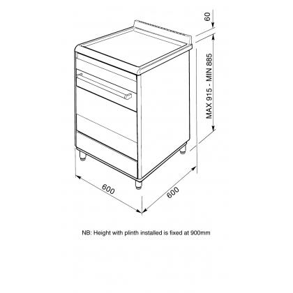 Aragaz mixt Smeg SUK61MBL8, 60 cm, negru, Vapor Clean, 7 functii