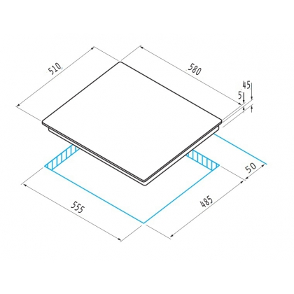 Plita incorporabila vitroceramica Pyramis Ecoline 60BCBC, 60 cm, touch control, timer