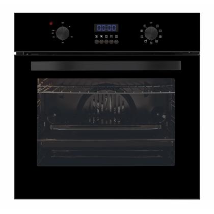 Cuptor incorporabil electric Pyramis Ecoline Elegant 60IN 6083, 9 functii, sticla neagra