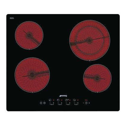Plita incorporabila vitroceramica Smeg SE2641TD2, 60 cm