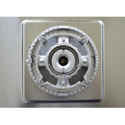 Plita incorporabila pe gaz Pyramis 60DAZX, 60 cm, gratare fonta, inox