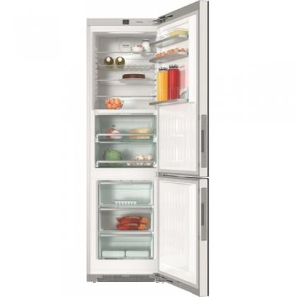 Combina frigorifica No Frost Miele KFN 29683 D obsw, 60 cm, usa sticla neagra, clasa A+++