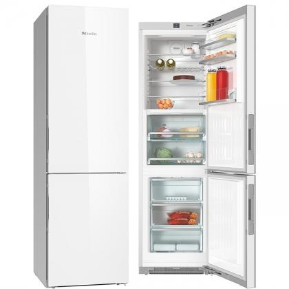 Combina frigorifica No Frost Miele KFN 29683 D brws, 60 cm, usa sticla alba, clasa A+++