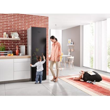 Combina frigorifica No Frost Miele KFN 29233 D Black Board, 60 cm, clasa A+++, usa tabla neagra