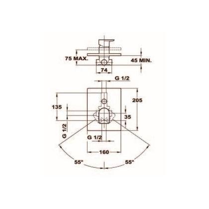 Baterie cada & dus de perete Teka FORMENTERA, 62.171.02.00, monocomanda, crom