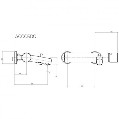 Baterie cada & dus Pyramis ACCORDO, 098502101