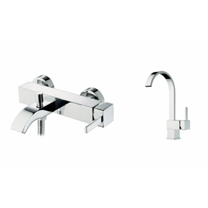 Set baterii baie Pyramis FINESSE, crom
