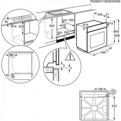 Cuptor incorporabil electric Electrolux EOC5750AOX, 13 functii, pirolitic, ghidaj telescopic