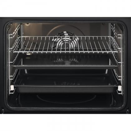 Cuptor incorporabil electric Electrolux EOA5220AOR, catalitic, ghidaj telescopic, retro, negru cu estetica aurie