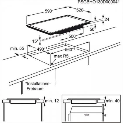 Plita incorporabila inductie AEG HK693320FG, 60 cm, display TFT, ProFry, functie punte, gri