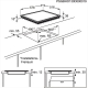 Plita incorporabila vitroceramica AEG HK634020XB, 60 cm, touch culisare, Stop&Go, rama inox