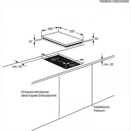 Plita incorporabila cu inductie AEG HC452401EB, 36 cm, functie punte