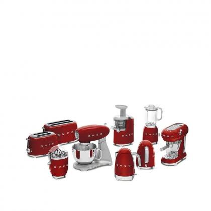 Espressor cafea Smeg ECF01RDEU, rosu, retro, 15 bar
