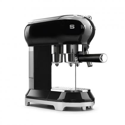 Espressor cafea Smeg ECF01BLEU, negru, retro, 15 bar