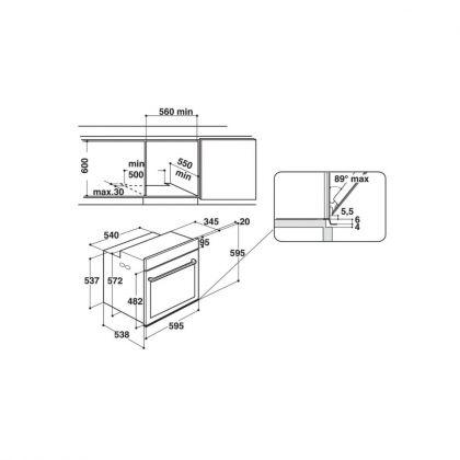 Cuptor incorporabil electric Hotpoint FI7 861 SH IX HA, inox, hidroliza, soft closing, 8 functii, ghidaje