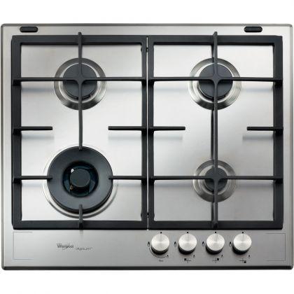 Plita incorporabila pe gaz Whirlpool iXelium GMA 6422 IXL, 60 cm, wok, gratare fonta