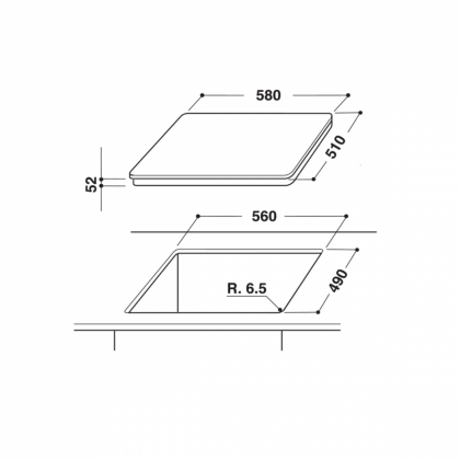 Plita incorporabila inductie Hotpoint KID 640 C, 60 cm
