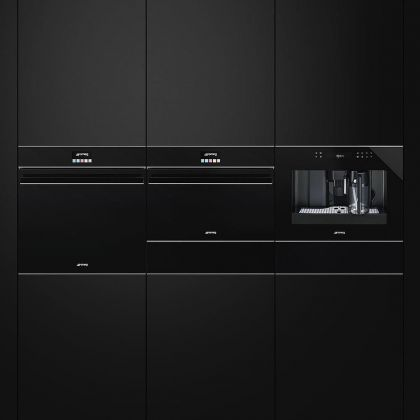Cuptor incorporabil electric Smeg Eclipse Black Glass SFP6604NXE, pirolitic, estetica argintie