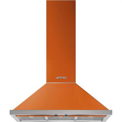 Hota semineu Smeg Portofino KPF9OR, 90 cm, portocalie