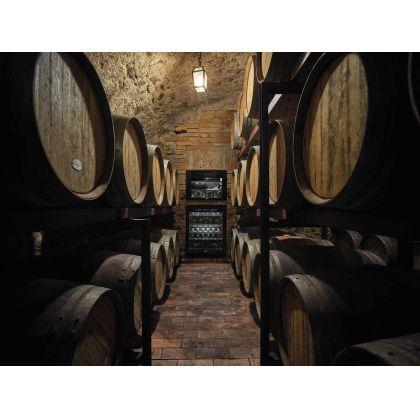 Racitor de vinuri incorporabil Smeg Dolce Stil Novo CVI618NRS, rafturi lemn, 18 sticle, margini cupru