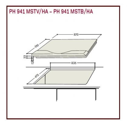 Plita incorporabila mixta Hotpoint Ariston PH 941MSTV GH/HA, 90 cm latime