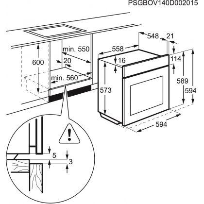 Cuptor incorporabil electric Electrolux EOA5400BOK, negru, 9 functii, catalitic