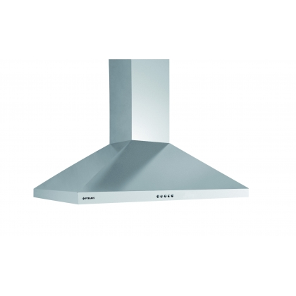 Hota semineu decorativa Pyramis Square Chimney, 60 cm, inox