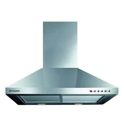 Hota semineu decorativa Pyramis CL5 Square Chimney Turbo, 60 cm, inox