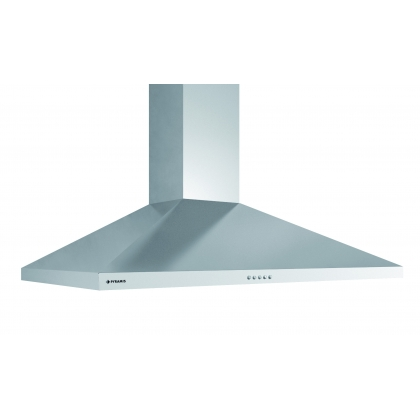 Hota semineu decorativa Pyramis Square Chimney, 90 cm, inox