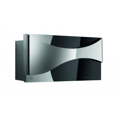 Hota decorativa de perete Pyramis Design Ambient, 90 cm, inox si sticla
