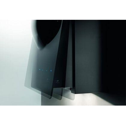 Hota decorativa de perete Pyramis Design Sphera, 65 cm, inox si sticla