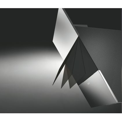 Hota decorativa de perete Pyramis Design Mood, 86 cm, inox si sticla