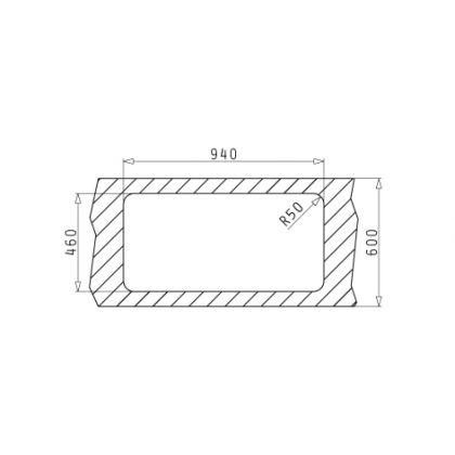 Chiuveta de bucatarie Pyramis Space Mini 1 1/2B 1D SM, 96 cm, inox lucios