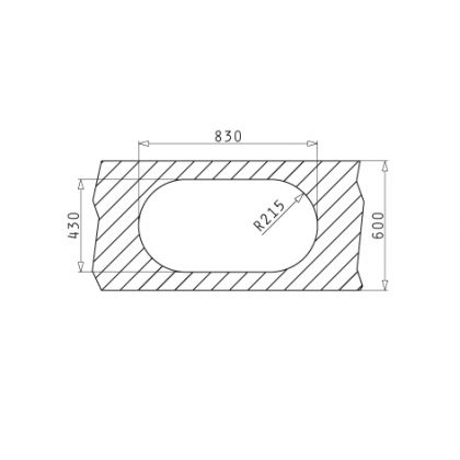 Chiuveta de bucatarie Pyramis SR Twig 1B 1D, 85 cm, inox lucios