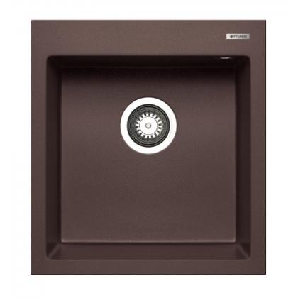 Chiuveta de bucatarie granit Pyramis 1B ISTROS 070044111, 46x50, Chocolate