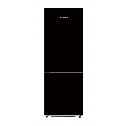 Combina frigorifica Pyramis FSK185 Black Glass, 60 cm, A+, sticla neagra