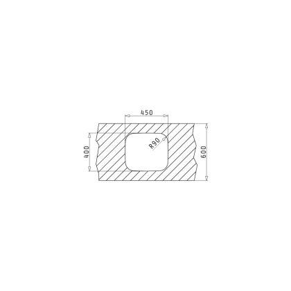 Chiuveta de bucatarie incorporabila sub blat Pyramis IRIS 1B, 45cm, inox