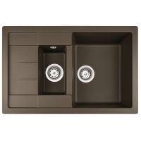 Chiuveta de bucatarie Teka Astral 60B TG 1 1/2B 1D, Chocolate Brown, 78 cm latime