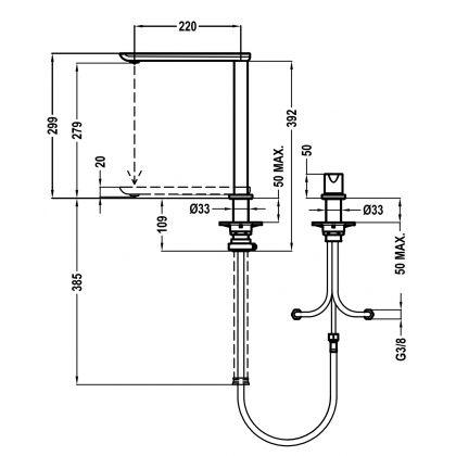 Baterie de bucatarie Teka FO 985, teava retractabila