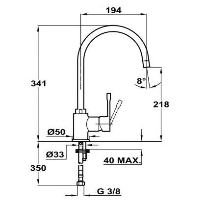 Baterie de bucatarie Teka SP 995 Granit Vanilla