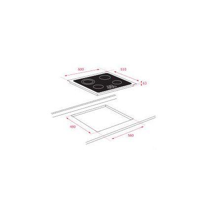 Plita incorporabila vitroceramica Teka TB 6415, Power, Touch Control