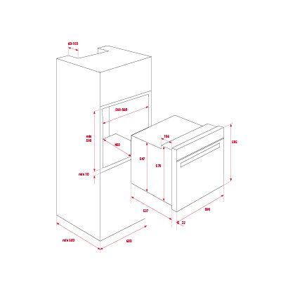 Cuptor incorporabil electric Teka HLB 840, negru, 9 functii, HydroClean