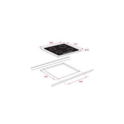 Plita incorporabila inductie Teka SPACE IZF 6420, 60 cm, control slide, zona Flex
