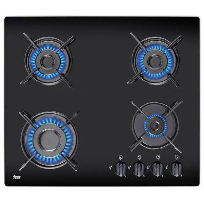 Plita incorporabila vitroceramica pe gaz Teka HF LUX 60 4G AI AL Black, 60 cm