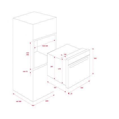 Cuptor incorporabil electric Teka HLB 860 P, negru, pirolitic, ecran TFT
