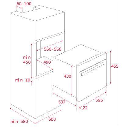 Cuptor incorporabil compact combinat Teka HLC 844 C, negru, electric si microunde, HydroClean
