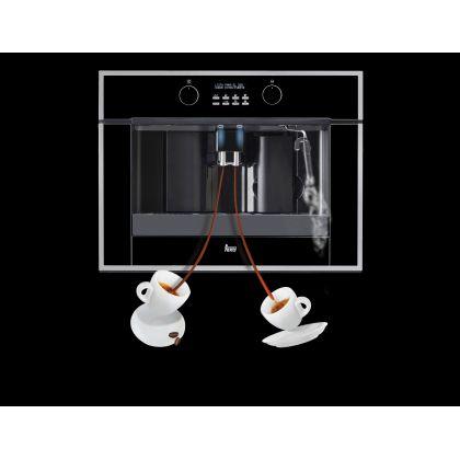 Espressor incorporabil Teka CLC 855 GM, negru, rezervor boabe inclus, 15 bar, 2 cesti